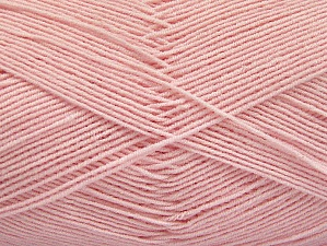 Fiber Content 55% Cotton, 45% Acrylic, Brand ICE, Baby Pink, Yarn Thickness 1 SuperFine  Sock, Fingering, Baby, fnt2-63119