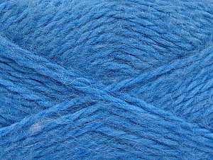 SuperBulky  Fiber Content 70% Acrylic, 30% Angora, Brand ICE, Blue, fnt2-63129
