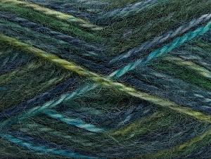 SuperBulky  Fiber Content 70% Acrylic, 30% Angora, Turquoise, Navy, Brand ICE, Green, fnt2-63137
