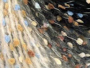 Contenido de fibra 42% Acrílico, 20% Alpaca, 20% Superwash Extrafine Merino Wool, 18% Poliamida, Light Brown, Light Blue, Brand ICE, Grey, Cream, Black, Yarn Thickness 5 Bulky  Chunky, Craft, Rug, fnt2-63189