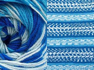Contenido de fibra 70% Acrílico, 30% Lana, Brand ICE, Blue Shades, Yarn Thickness 3 Light  DK, Light, Worsted, fnt2-63205