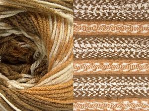 Fiber Content 70% Acrylic, 30% Wool, Light Brown, Brand ICE, Cream, Camel, Yarn Thickness 3 Light  DK, Light, Worsted, fnt2-63206