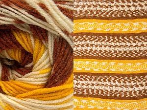Contenido de fibra 70% Acrílico, 30% Lana, Yellow, Brand ICE, Cream, Copper, Yarn Thickness 3 Light  DK, Light, Worsted, fnt2-63209