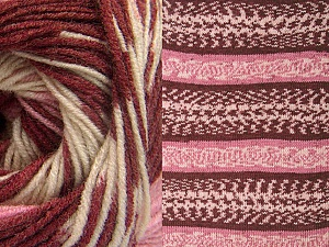 Contenido de fibra 70% Acrílico, 30% Lana, Pink, Brand ICE, Cream, Burgundy, Yarn Thickness 3 Light  DK, Light, Worsted, fnt2-63213