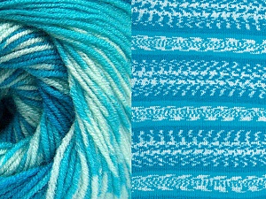 Contenido de fibra 70% Acrílico, 30% Lana, Turquoise Shades, Brand ICE, Yarn Thickness 3 Light  DK, Light, Worsted, fnt2-63215