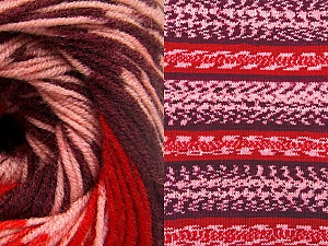 Contenido de fibra 70% Acrílico, 30% Lana, Red, Pink, Maroon, Brand ICE, Yarn Thickness 3 Light  DK, Light, Worsted, fnt2-63216