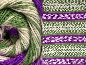 Contenido de fibra 70% Acrílico, 30% Lana, Purple, Brand ICE, Green, Cream, Yarn Thickness 3 Light  DK, Light, Worsted, fnt2-63218