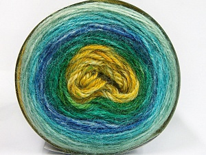 Fiber Content 50% Premium Acrylic, 25% Wool, 25% Alpaca, Turquoise, Brand ICE, Green Shades, Blue, fnt2-63272