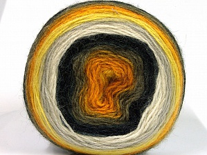 Fiber Content 60% Premium Acrylic, 20% Wool, 20% Mohair, Yellow, White, Brand ICE, Gold, Camel, Black, fnt2-63274