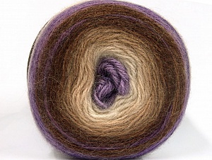 Fiber Content 60% Premium Acrylic, 20% Wool, 20% Mohair, Lilac, Brand ICE, Cream, Camel, Brown, fnt2-63278