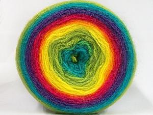 Fiber Content 60% Premium Acrylic, 20% Wool, 20% Mohair, Rainbow, Brand ICE, fnt2-63282