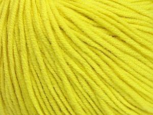 Fiber Content 50% Acrylic, 50% Cotton, Neon Yellow, Brand ICE, Yarn Thickness 3 Light  DK, Light, Worsted, fnt2-63342