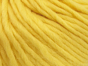 Fiber Content 100% Wool, Light Yellow, Brand ICE, Yarn Thickness 5 Bulky  Chunky, Craft, Rug, fnt2-63347