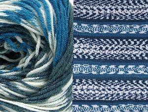Contenido de fibra 70% Acrílico, 30% Lana, White, Brand ICE, Blue, Anthracite Black, Yarn Thickness 3 Light  DK, Light, Worsted, fnt2-63387