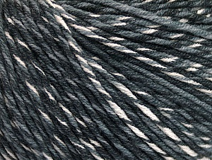 Fiber Content 55% Cotton, 45% Acrylic, White, Brand ICE, Grey Shades, fnt2-63408
