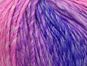 Fiber Content 70% Acrylic, 30% Wool, Purple, Pink Shades, Lilac Shades, Brand ICE, fnt2-63453
