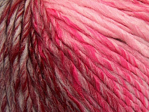 Fiber Content 70% Acrylic, 30% Wool, Pink Shades, Light Grey, Brand ICE, Burgundy, fnt2-63455