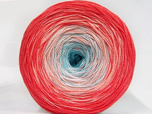 Fiber Content 50% Acrylic, 50% Cotton, Turquoise, Salmon Shades, Brand ICE, fnt2-63681