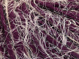 Fiber Content 5% Metallic Lurex, 35% Acrylic, 30% Wool, 30% Polyamide, White, Purple, Brand ICE, Black, fnt2-63985