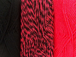 Fiber Content 90% Acrylic, 10% Polyester, Neon Pink, Brand ICE, Black, fnt2-64026