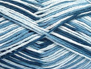 Fiber Content 100% Cotton, White, Brand ICE, Blue Shades, fnt2-64031