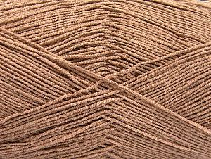 Fiber Content 55% Cotton, 45% Acrylic, Brand ICE, Camel, fnt2-64141