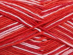 Fiber Content 100% Cotton, Salmon Shades, Red, Brand ICE, fnt2-64168