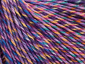 Fiber Content 55% Cotton, 45% Acrylic, Lilac Shades, Light Green, Brand ICE, Gold, Cream, Yarn Thickness 3 Light  DK, Light, Worsted, fnt2-64202
