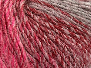 Fiber Content 70% Acrylic, 30% Wool, Red, Pink Shades, Brand ICE, Grey Shades, Yarn Thickness 3 Light  DK, Light, Worsted, fnt2-64215