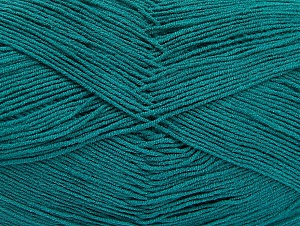 Fiber Content 55% Cotton, 45% Acrylic, Brand ICE, Emerald Green, Yarn Thickness 1 SuperFine  Sock, Fingering, Baby, fnt2-64232