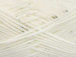 Fiber Content 98% Acrylic, 2% Paillette, White, Brand ICE, fnt2-64443