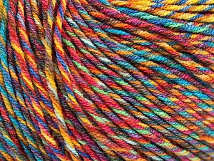 Fiber Content 55% Cotton, 45% Acrylic, Yellow, Turquoise, Orange, Brand ICE, Brown, fnt2-64458