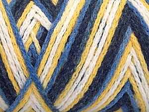 Fiber Content 50% Polyamide, 50% Acrylic, Yellow, White, Navy, Brand ICE, Blue, fnt2-64470