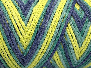 Fiber Content 50% Polyamide, 50% Acrylic, Neon Yellow, Jeans Blue, Brand ICE, Green Shades, fnt2-64471