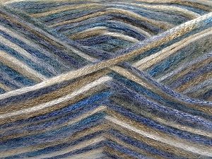 Fiber Content 70% Polyamide, 19% Wool, 11% Acrylic, Brand Ice Yarns, Camel, Blue Shades, Black, fnt2-64592