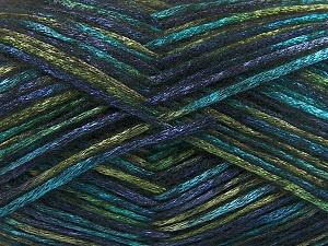Fiber Content 70% Polyamide, 19% Wool, 11% Acrylic, Turquoise, Navy, Brand Ice Yarns, Green, fnt2-64598