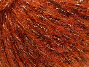 Fiber Content 60% Acrylic, 21% Polyester, 19% Alpaca, Orange, Brand Ice Yarns, Gold, Black, fnt2-64609