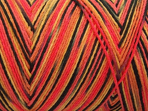 Fiber Content 100% Acrylic, Salmon Shades, Brand Ice Yarns, Gold, Black, fnt2-64640