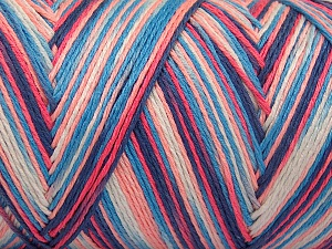 Fiber Content 100% Acrylic, White, Salmon Shades, Brand Ice Yarns, Blue Shades, fnt2-64645