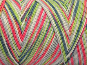 Fiber Content 100% Acrylic, White, Neon Pink, Neon Green, Light Blue, Brand Ice Yarns, fnt2-64655