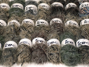 Eyelash Blends This mixed lot includes a total of 2000 gr (70.5 oz.) unlabeled yarn. There is no standard for ball weight. You will get what you see in the photo. Brand Ice Yarns, fnt2-64736