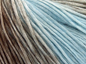 Modal is a type of yarn which is mixed with the silky type of fiber. It is derived from the beech trees. Fiber Content 74% Modal, 26% Wool, Brand Ice Yarns, Brown, Baby Blue, Yarn Thickness 3 Light  DK, Light, Worsted, fnt2-64808