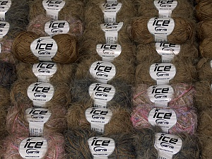 Eyelash Blends This mixed lot includes a total of 2000 gr (70.5 oz.) yarn. There is no standard for ball weight. Also disregard any information on the labels. You will get what you see in the photo. Brand Ice Yarns, fnt2-64830