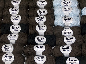 Violino This mixed lot includes a total of 2000 gr (70.5 oz.) yarn. There is no standard for ball weight. Also disregard any information on the labels. You will get what you see in the photo. Brand Ice Yarns, fnt2-64842
