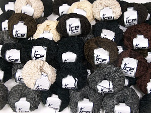 Amigurumi Chenille This mixed lot includes a total of 2000 gr (70.5 oz.) yarn. There is no standard for ball weight. Also disregard any information on the labels. You will get what you see in the photo. Fiber Content 100% Polyester, Brand Ice Yarns, fnt2-64860