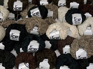 Amigurumi Chenille This mixed lot includes a total of 2000 gr (70.5 oz.) yarn. There is no standard for ball weight. Also disregard any information on the labels. You will get what you see in the photo. Fiber Content 100% Polyester, Brand Ice Yarns, fnt2-64870