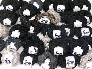 Amigurumi Chenille This mixed lot includes a total of 2000 gr (70.5 oz.) yarn. There is no standard for ball weight. Also disregard any information on the labels. You will get what you see in the photo. Fiber Content 100% Polyester, Brand Ice Yarns, fnt2-64891