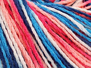 Fiber Content 100% Acrylic, White, Salmon Shades, Brand Ice Yarns, Blue Shades, fnt2-64904