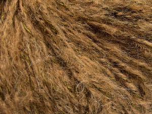 Fiber Content 60% Acrylic, 21% Polyester, 19% Alpaca, Brand Ice Yarns, Green, Camel, Black, fnt2-64920
