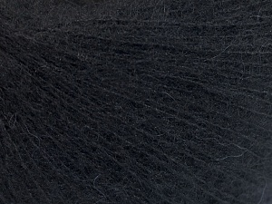 Fiber Content 50% Polyamide, 40% Baby Alpaca, 10% Merino Wool, Brand Ice Yarns, Black, fnt2-64967